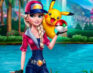 Игра Эльза играет в Pokemon Go